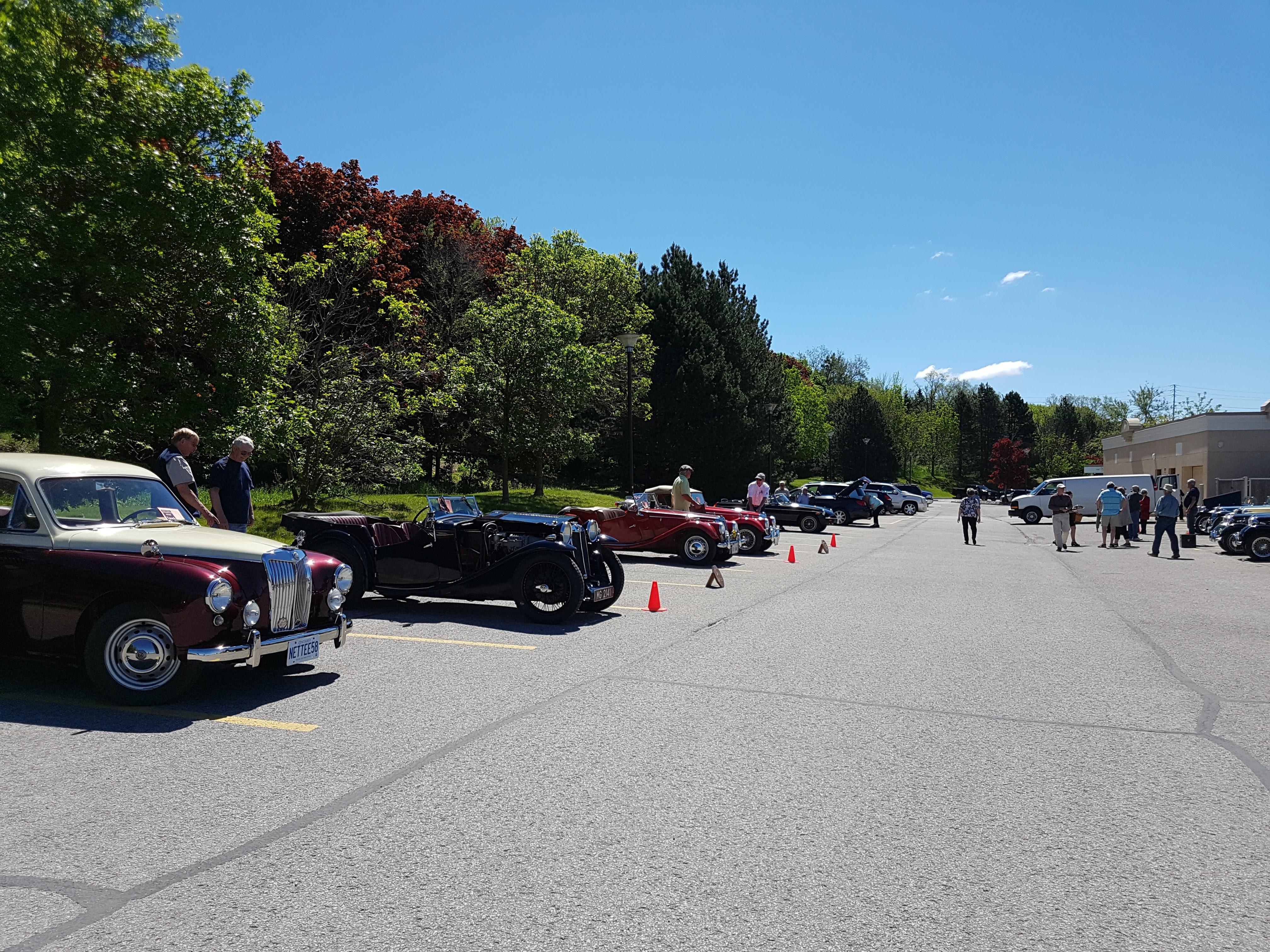 Car show lineup