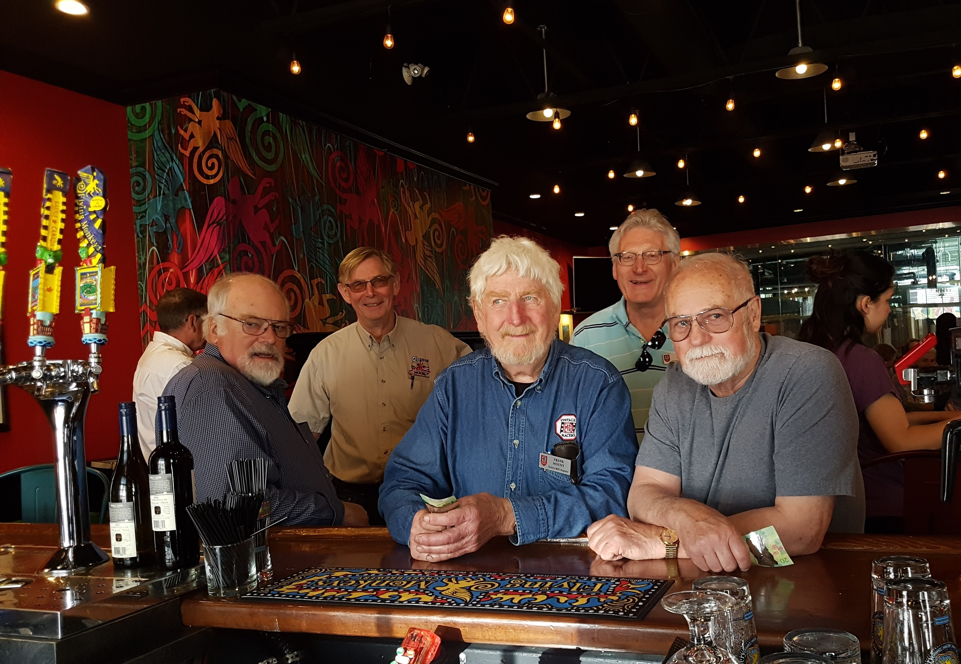 Guys at Flying Monkeys bar
