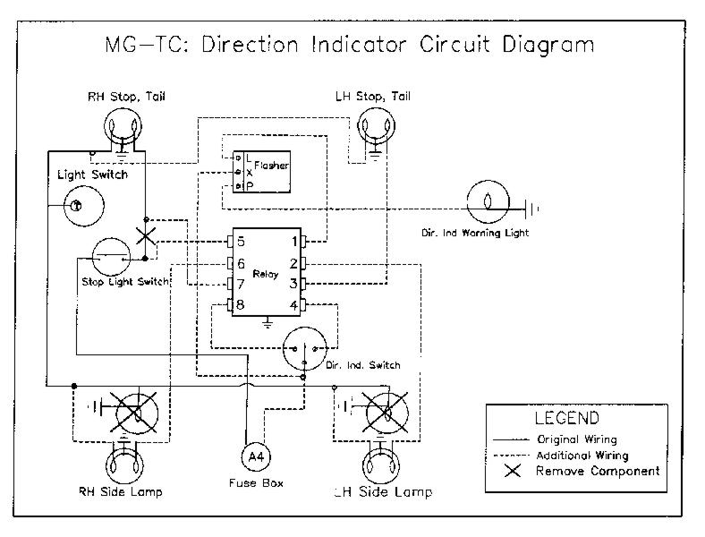 mg tc installation of direction indicators rh omgtr ca Basic Turn Signal Wiring Diagram Single Filament Turn Signal Wiring Diagram